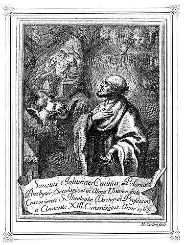 Znalezione obrazy dla zapytania św jan kanty